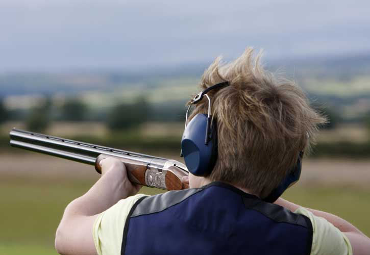 Laser or Clay Pigeon Shooting